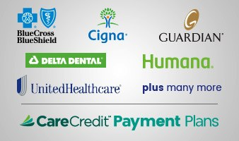 Collage of dental insurance logos