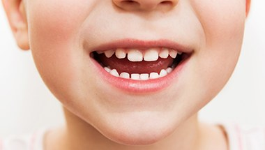 Closeup of healthy child's smile