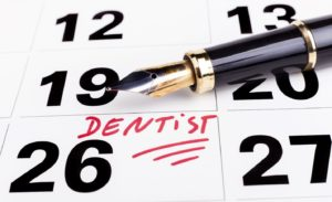 Appointment to use dental insurance marked on calendar